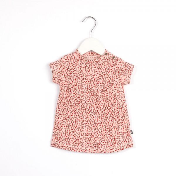 Kleid mit Buchstabendruck Birth Pink & Grapefruit