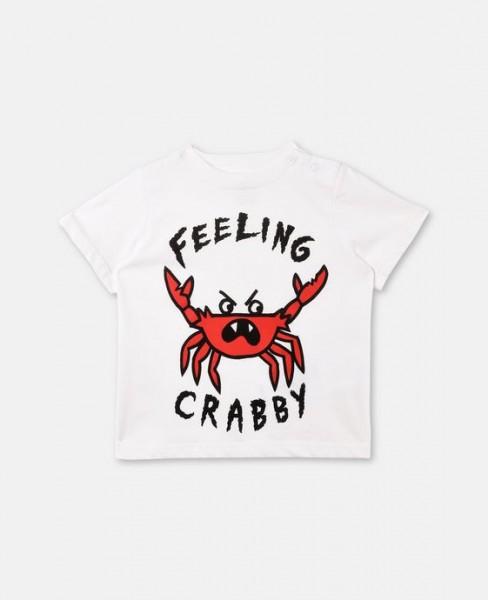 T-Shirt Chuckle mit Krabbe Weiß