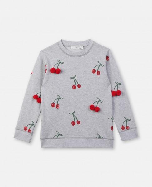 Sweatshirt mit Kirschenprint Grau