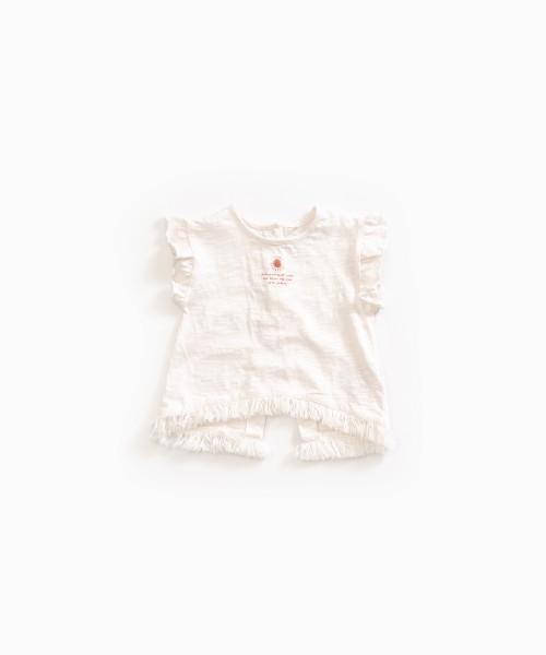 T-Shirt aus Bio-Baumwolle mit Sonnendruck Pearl