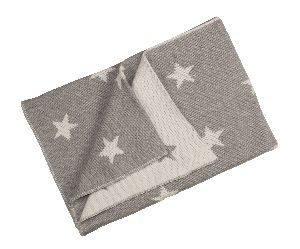 Solo tu! Babydecke mit Sternen - Farbe: grau/creme