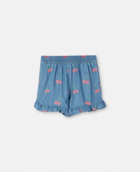 Shorts mit Kirschenprint Blau