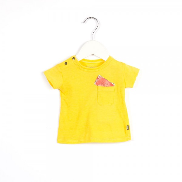 T-Shirt mit Candydruck Jelly Yellow