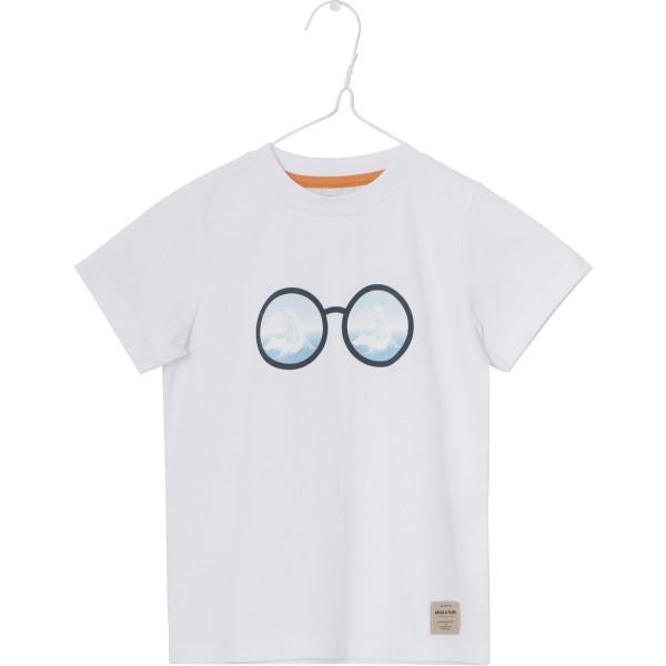 T-Shirt mit Brille und Monsterwelle Farbe Weiß