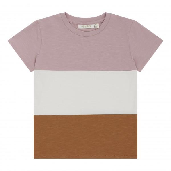 Soft Gallery T-Shirt Bass Blockstreifen Woodrose
