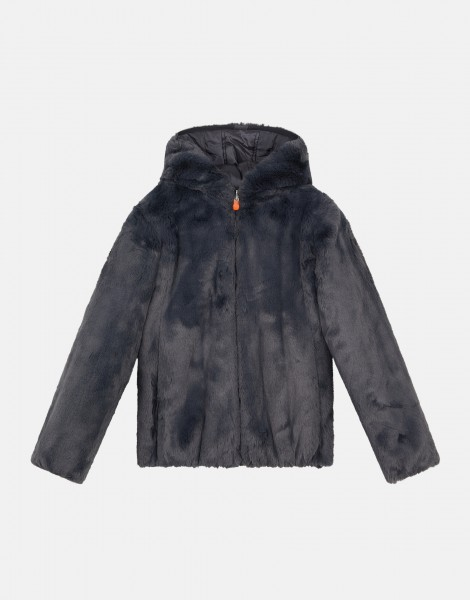 Winterjacke Furry Ebony Grey