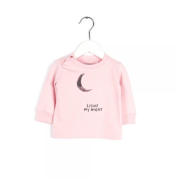 Langarmshirt mit Monddruck Pink Flower