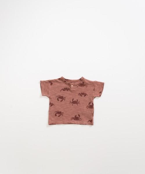 T-Shirt aus Bio-Baumwolle Krebsprint Old Tile
