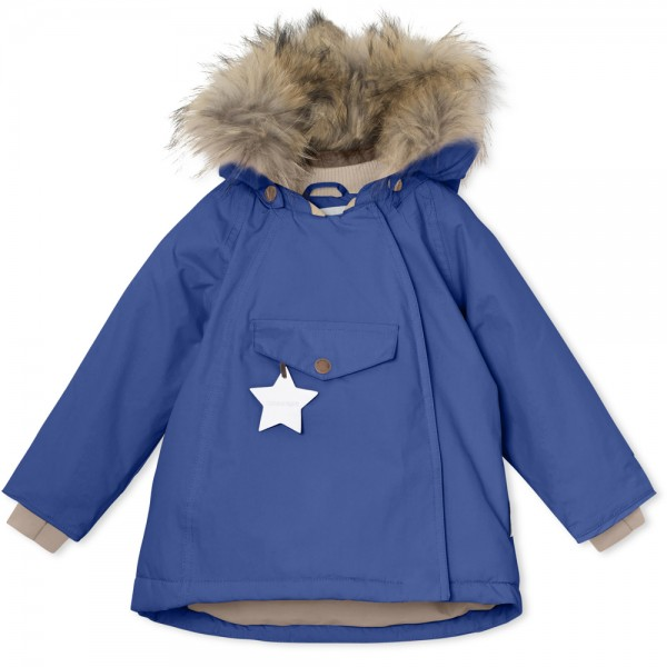 Winterjacke Wang mit Fell Blue Quartz