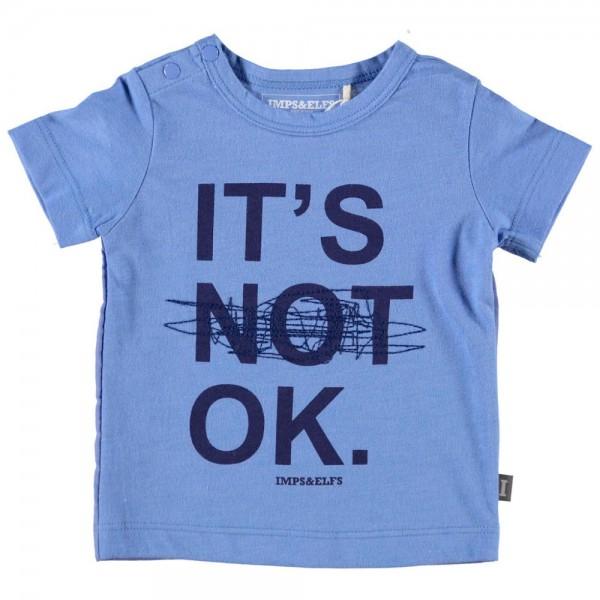 T-Shirt mit Druck blau