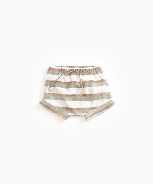 Gestreifte Shorts aus Bio-Baumwolle Pearl