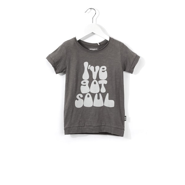 "T-Shirt mit Druck ""I´VE GOT SOUL"" Earl Grey"