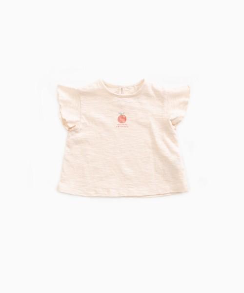 T-Shirt aus Bio-Baumwolle mit Früchtedruck Seashell