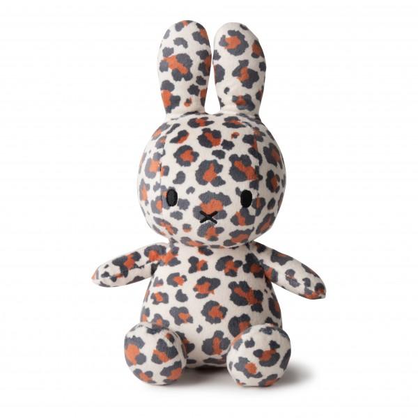 Miffy Sitting Velvetine 23cm all-over Leopard Print
