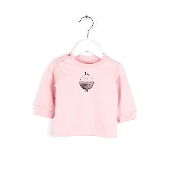 Langarmshirt mit Weltkugeldruck Pink Flower
