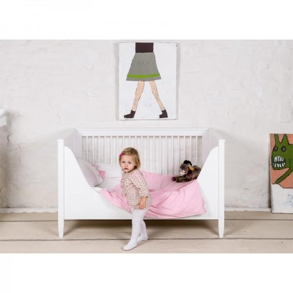 Babybett, 70x140cm weiß oder handbemalt