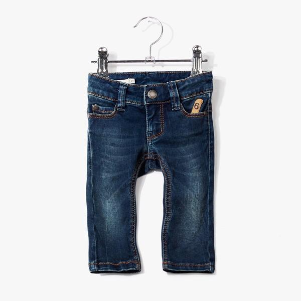 Jeans 6-Pocket-Style Slim Aqua Blue