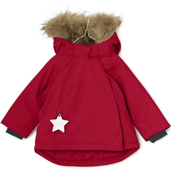 Winterjacke Wang mit Fell Haute Red