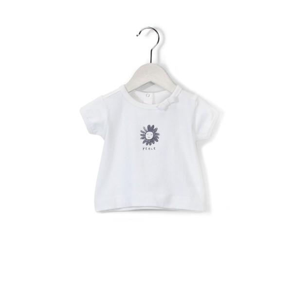 T-Shirt mit Schriftzug Peace Free White