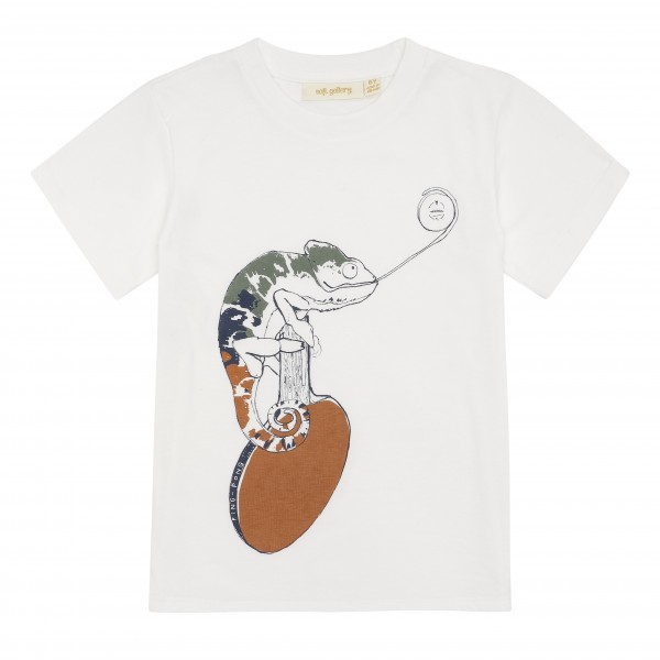 Soft Gallery T-Shirt Norman Chamäleon Snow White