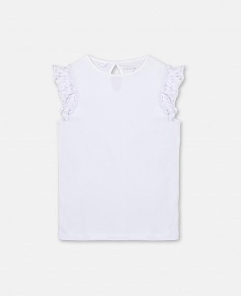 T-Shirt mit Sternenvolants Weiß