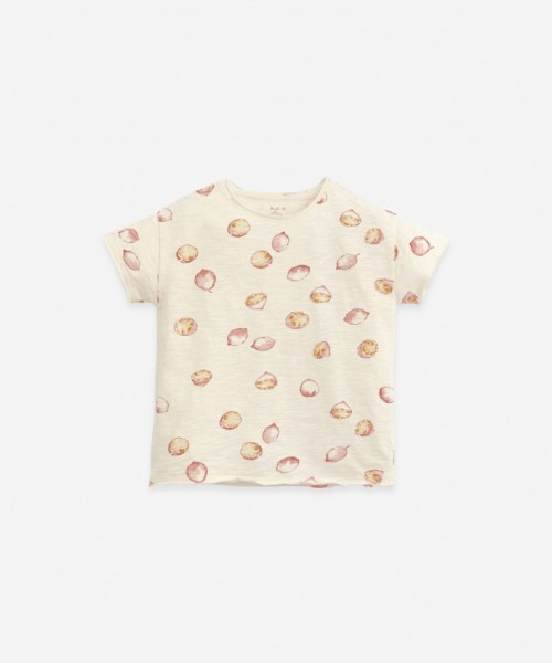 Play Up Printed Flamé Jersey T-Shirt Dandelion