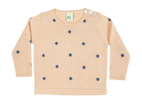Pullover mit Polkadots Beige