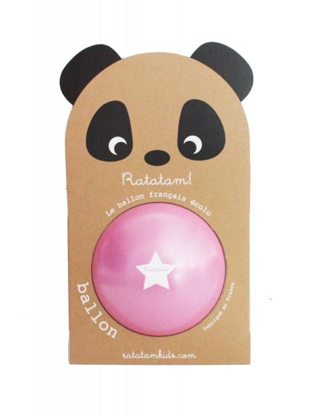 Ball Ballon Écolo Français Panda Rose 22cm