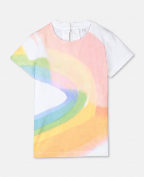 "T-Shirt mit ""Paint Rainbow""-Print Weiss"