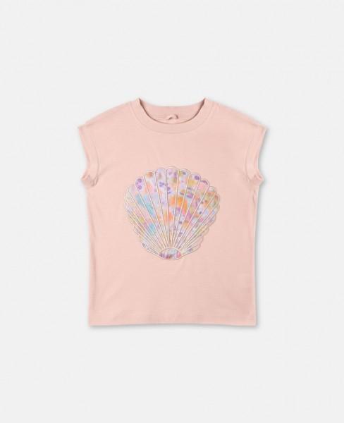 T-Shirt Lois mit Muschelapplikation Rosa