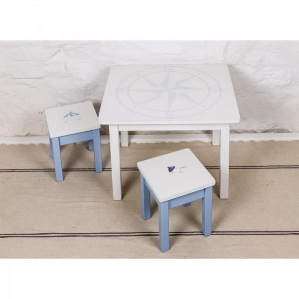 Kindertisch, 65x75cm Höhe 57cm Tischbeine: weiß, bemalt