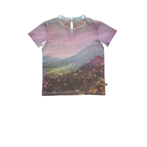 T-Shirt Isla mit Landschaftsprint