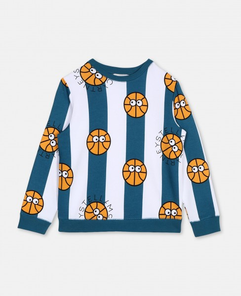 Stella McCartney Baumwollsweater mit Baseball-Print