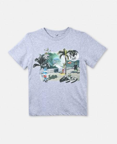 T-Shirt Arrow mit Besucher-Print Grau