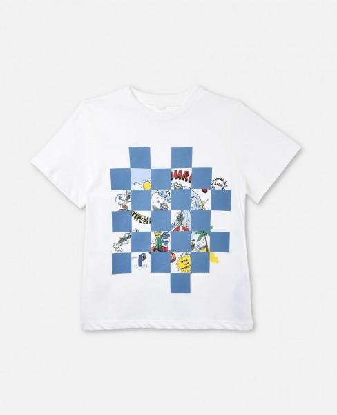 T-Shirt Arlow mit Tourist-Print Weiss