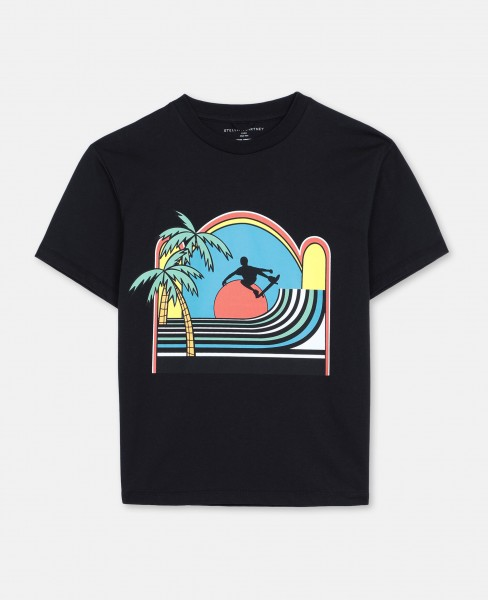 Stella McCartney T-Shirt mit Skater Print