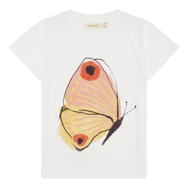 Soft Gallery T-Shirt Bass Butterfly Brimstone Snow White