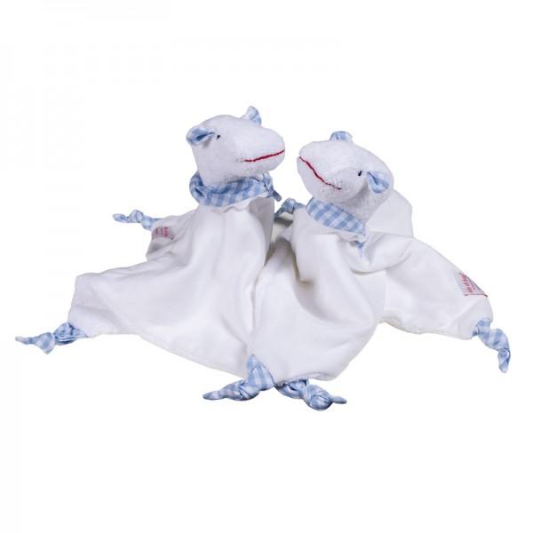 Hippo Schmusetuch Farbe: hellblau