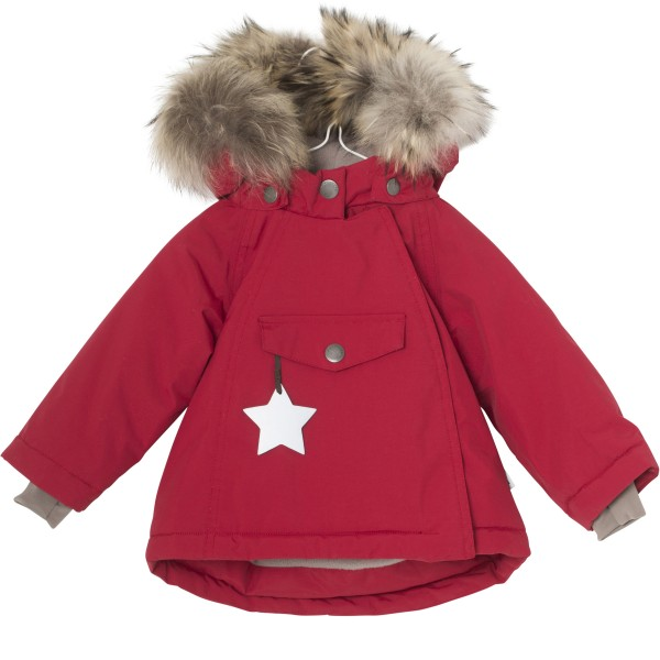 Winterjacke Wang mit Fell Scooter Red