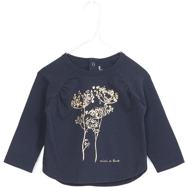 Langarmshirt mit Pflanzendruck Sky Captain Blue