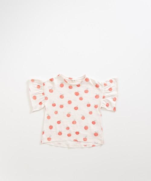 T-Shirt aus Bio-Baumwolle mit Früchteprint Pearl