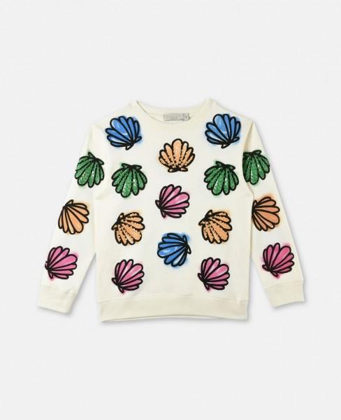 Sweatshirt Betty mit Muschelprint Buttermilk
