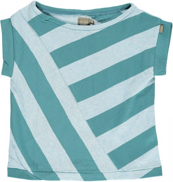 T-Shirt Sand Girls schräg gestreift sea blue/soft blue