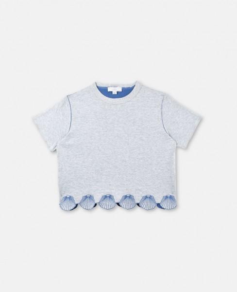 Wendbares T-Shirt Alessandra mit Muschelverzierung Grau