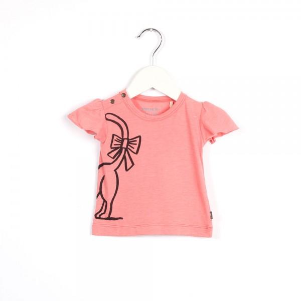 T-Shirt mit Katzenprint Party Pink