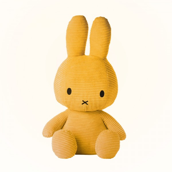 Miffy Sitting Corduroy 50cm Yellow