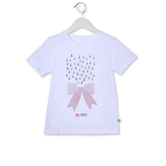 T-Shirt Arlo mit buntem Tropfenprint