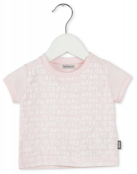 "T-Shirt mit ""TO-DAY"" Print Rosa"