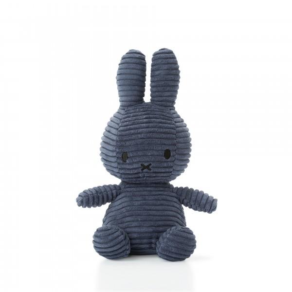 Miffy Sitting Corduroy 23cm Blue