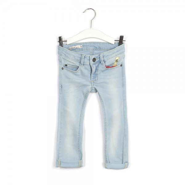 Jeans 6-Pocket Super Slim 7/8 Beach Blue